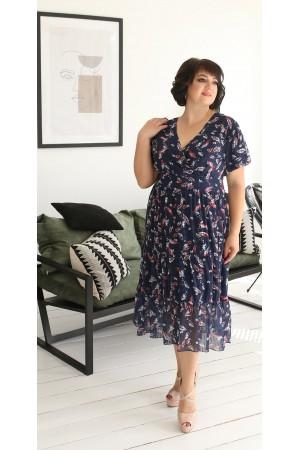 Нарядне плаття в квітку на весну-літо 2021 LB203701