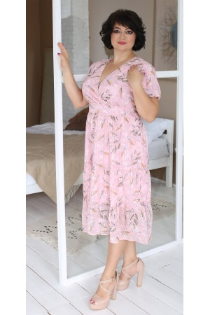 Нарядное платье  в цветок на весну-лето 2021 LB203702