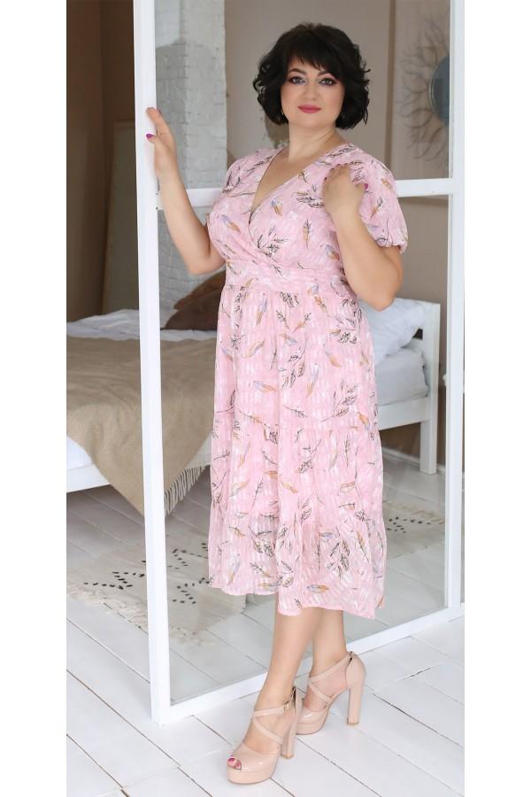 Нарядне плаття в квітку на весну-літо 2021 LB203702