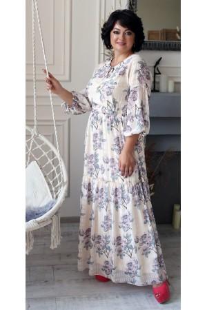 Нарядне довге плаття з принтом квітів LB205503