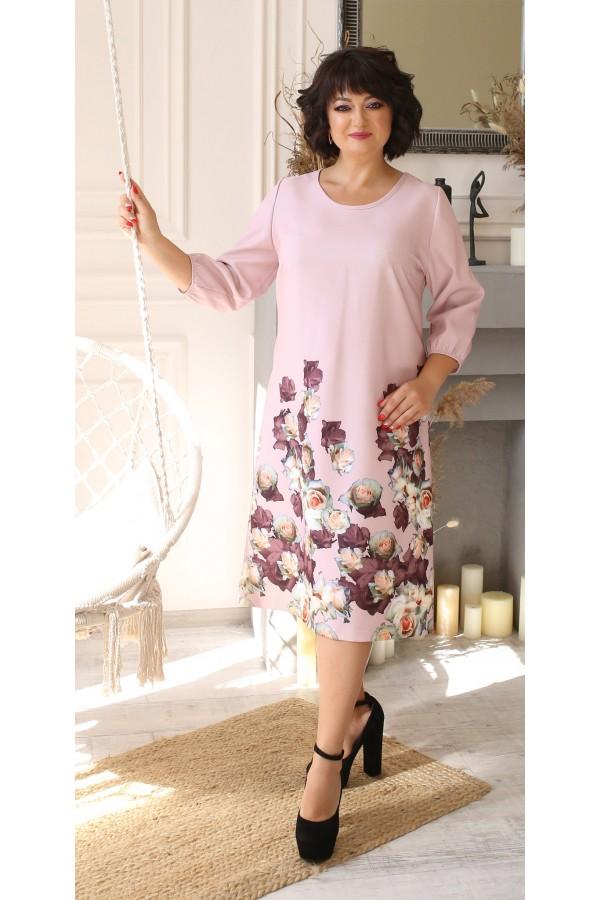 Чудове плаття з принтом квітів LB207801