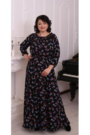 Нежное платье с цветами большого размера LB215801