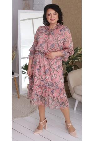Квіткова сукня великого розміру LB217101