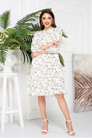 Яскраве квіткове плаття YM42102 пудра 2021