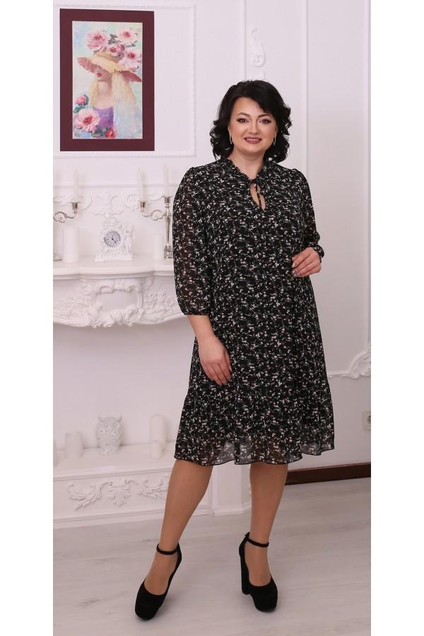 Тендітна вільна весняна сукня  LB214502