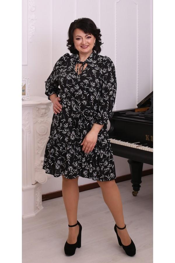 Молодіжна вільна весняна сукня LB216101