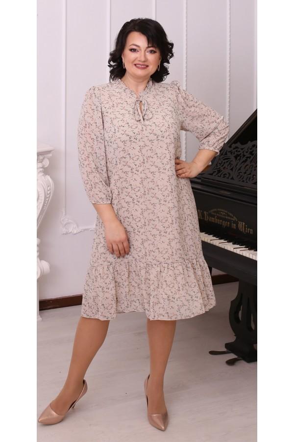 Тендітна вільна весняна сукня  LB214503