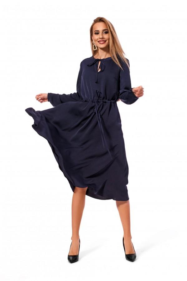 Плаття вільного силуету темно-синього кольору SL119803