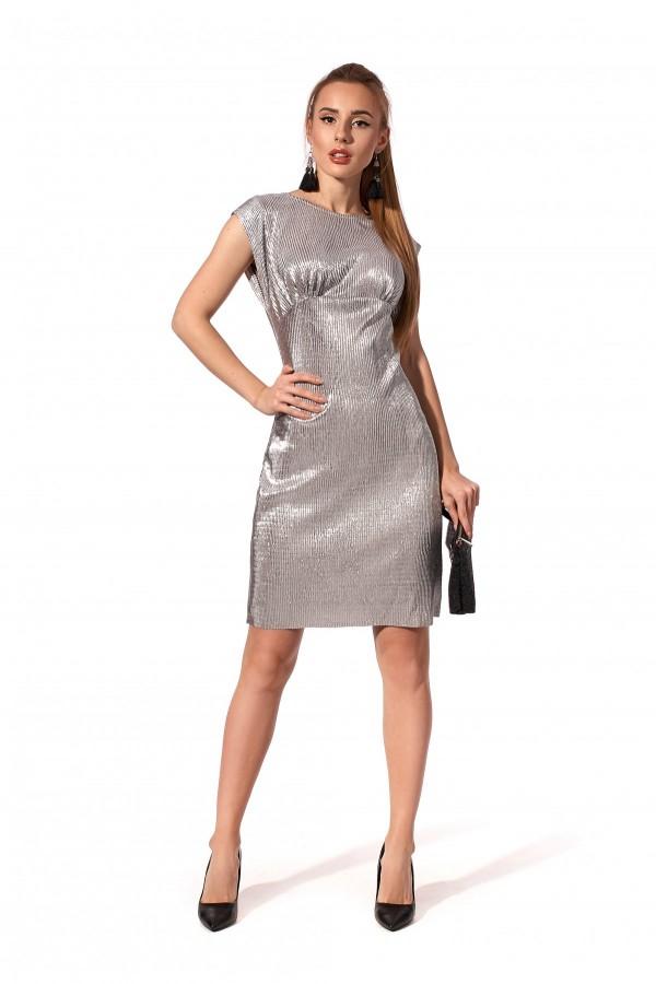 Святкове плаття срібного кольору SL121501