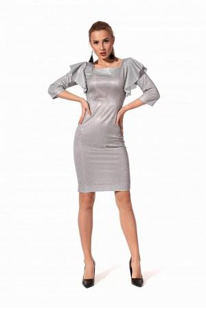 Прилягаюче плаття cрібного кольору SL121602 сезону 2020