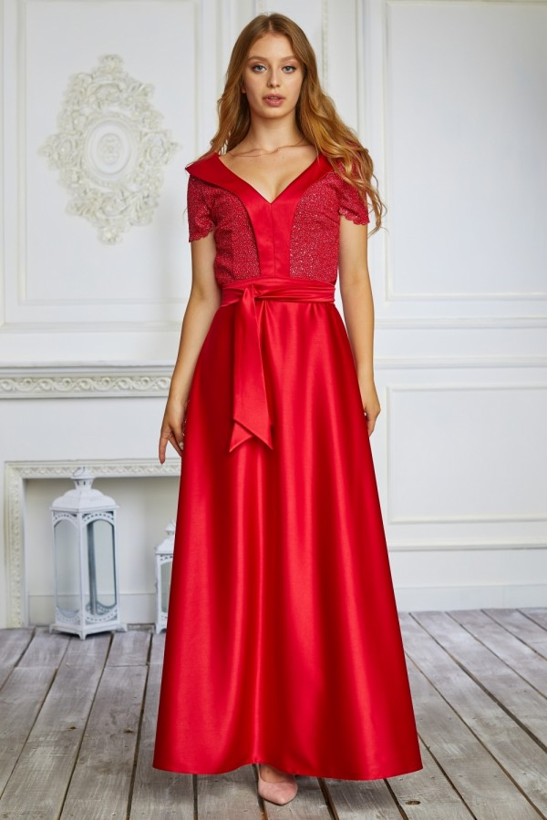 Святкова стильна довга сукня сезону 2021 HD58701