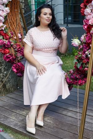 Елегантна сукня HD70001 пудра