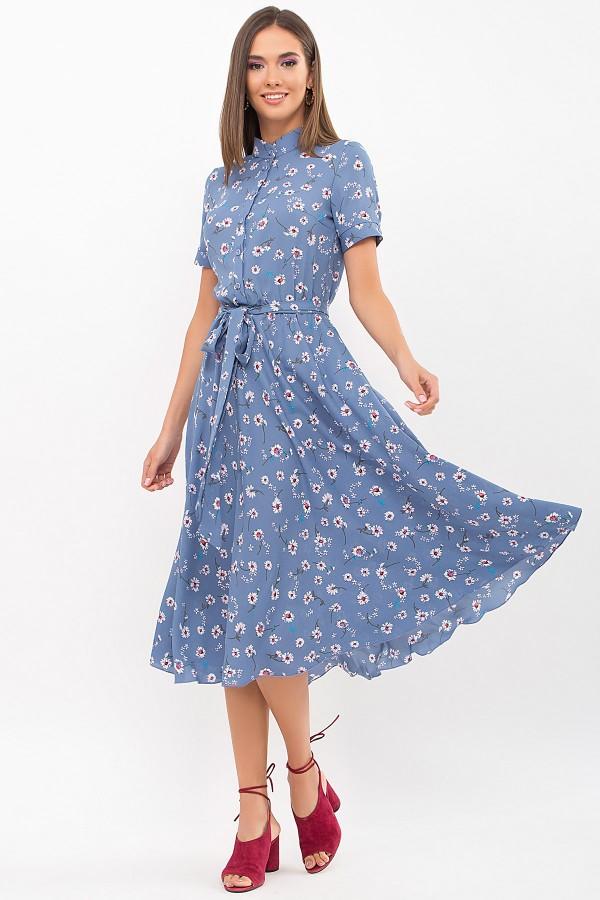 Плаття Ізольда к/р GL69484 колір джинс-ромашки