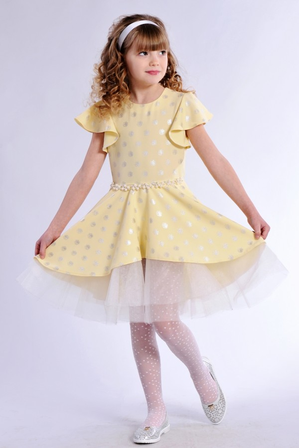 Костюм дитячий нарядний  жовтий DV37604