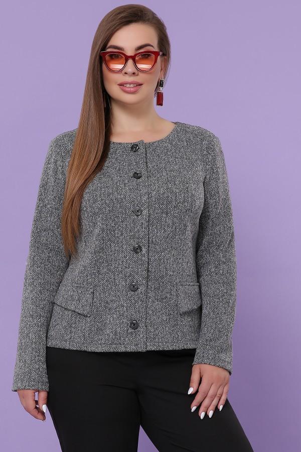 Жакет Кьяра-Б GL51110 цвет серый
