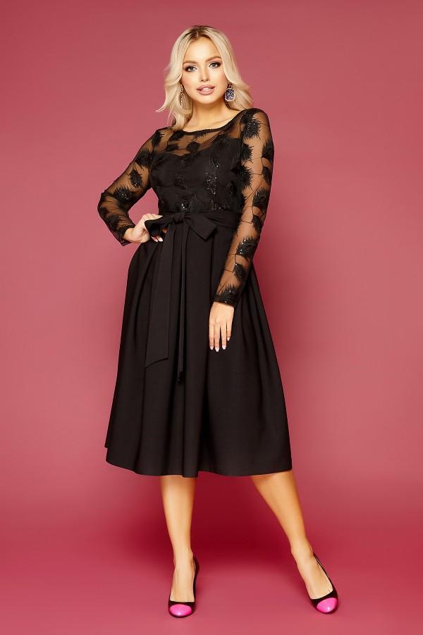 Сукня Євангеліна д/р GL52167 колір чорний