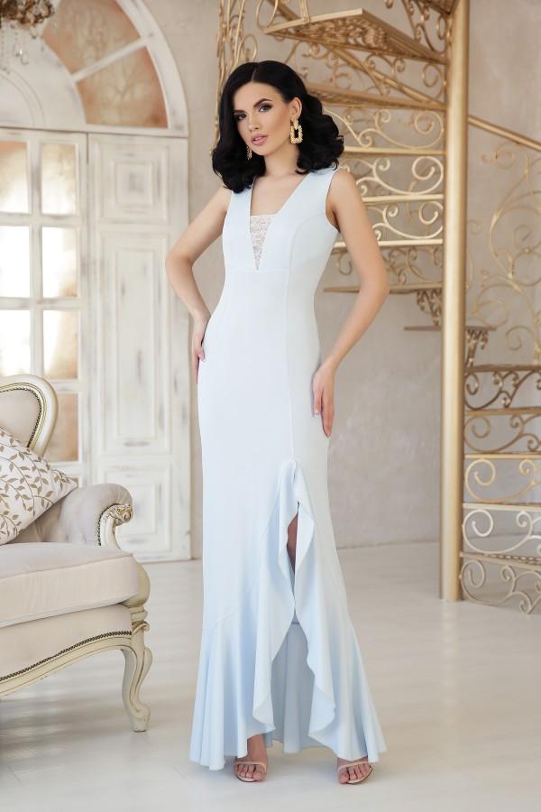 Платье Этель к/р GL48314 цвет голубой