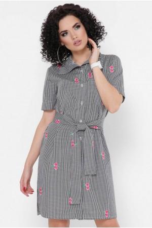 Платье-рубашка Sophie PL-1767B цвет черный