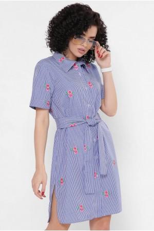 Платье-рубашка Sophie PL-1767A цвет синий