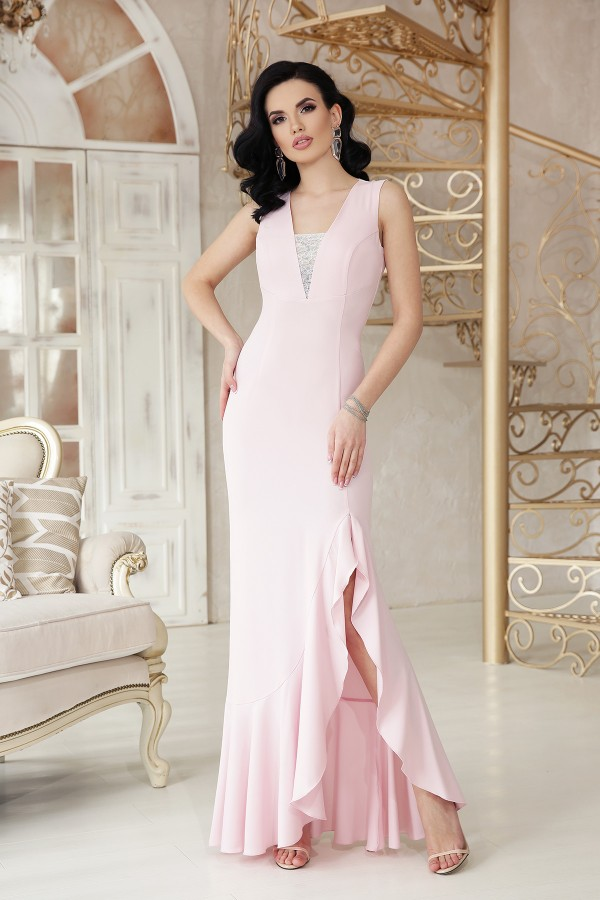 Платье Этель к/р GL48315 цвет пудра