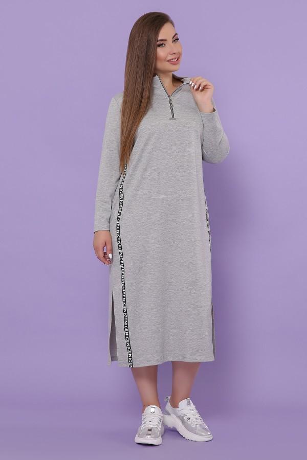 Платье Джилл-Б д/р GL51098 цвет серый