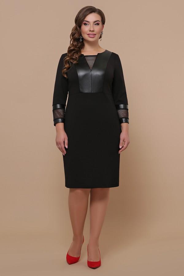 Платье Дениз-Б д/р GL51608 цвет черный