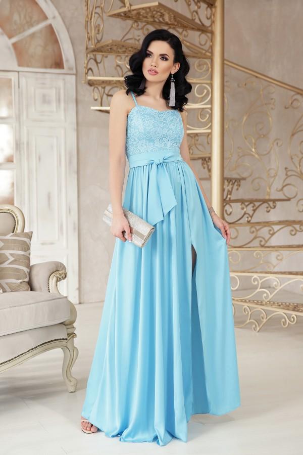 Платье Эшли б/р GL48209 цвет голубой