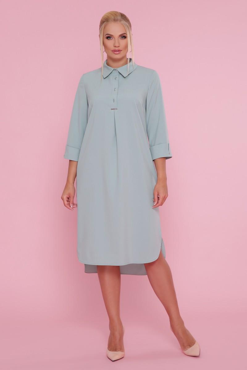 7955f836a28 Купить платье-рубашка Власта-Б 3 4 GL47668 оливковый недорого в Украине