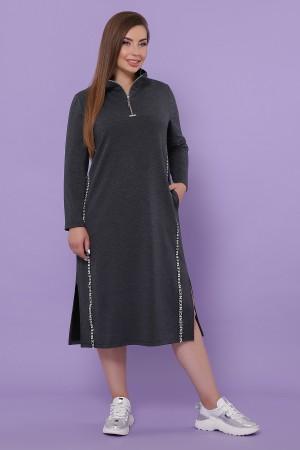 Сукня Джилл-Б д/р GL51097 колір темно сірий
