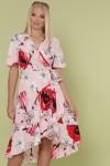 Сукня Алес-Б к/р GL49481 колір рожевий-великий квітка