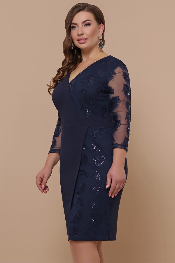 Сукня Лария-Б д/р GL51922 колір синій