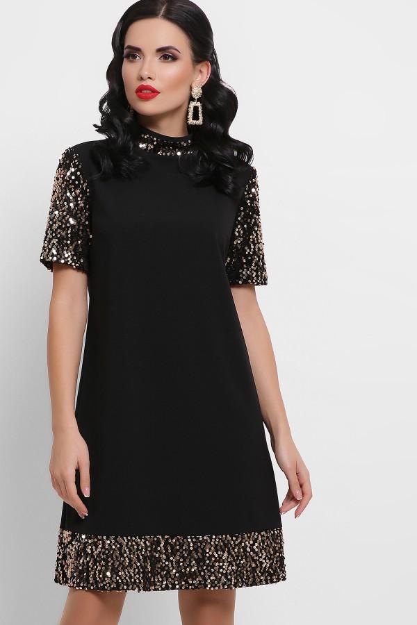Платьеве нарядное  Бетти к/р GL52922 цвет черный-золото