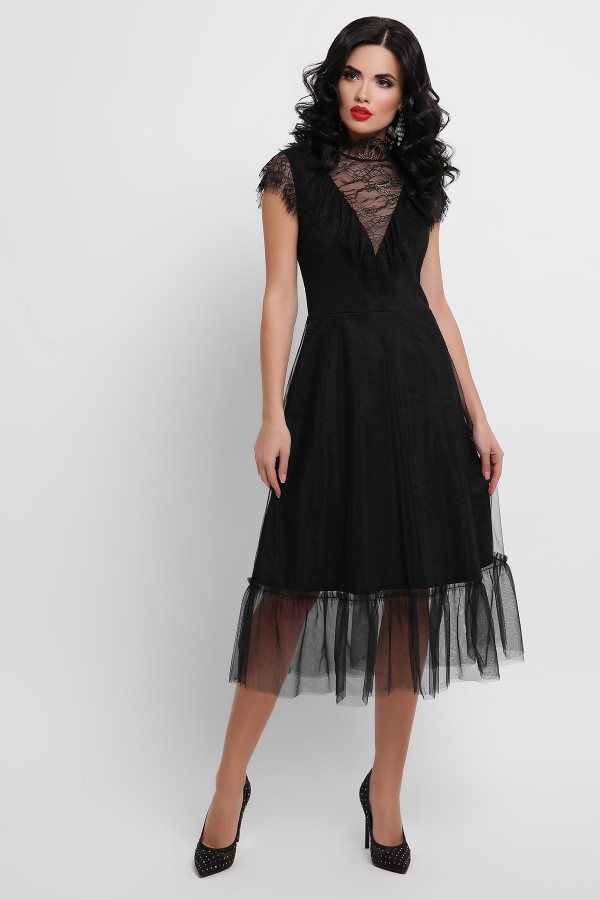 Сукня Ерміна б/р GL52992 колір чорний