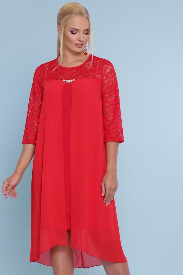платье Муза-Б 3/4 GL47732 красный