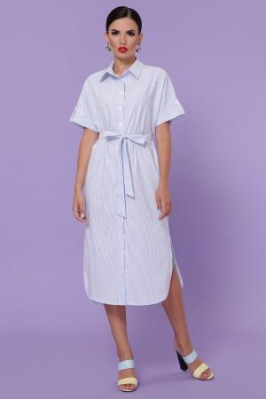 Сукня-сорочка Дар'я блакитна смужка