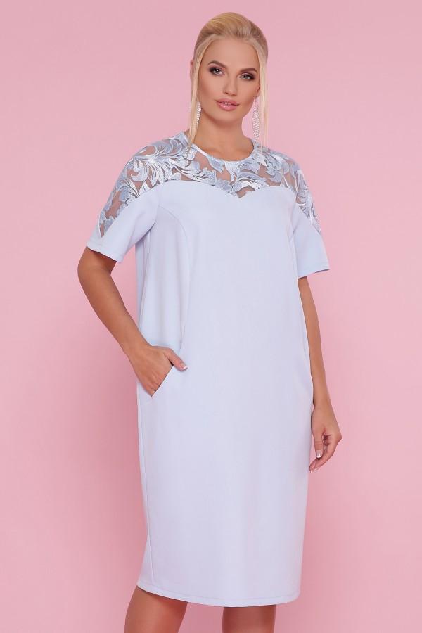 платье Адель-Б к/р GL47643 голубой