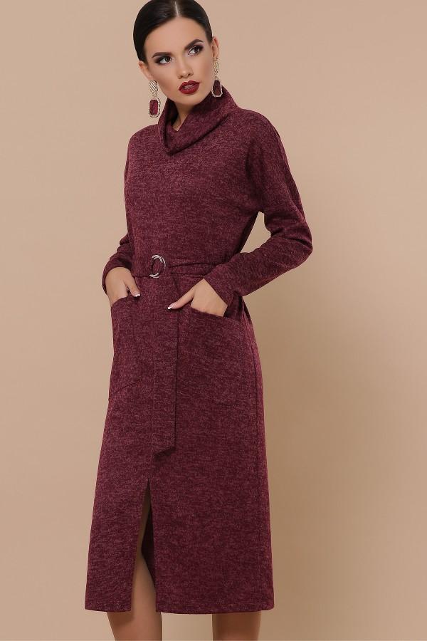 Платье Дакота д/р GL51205 цвет бордо