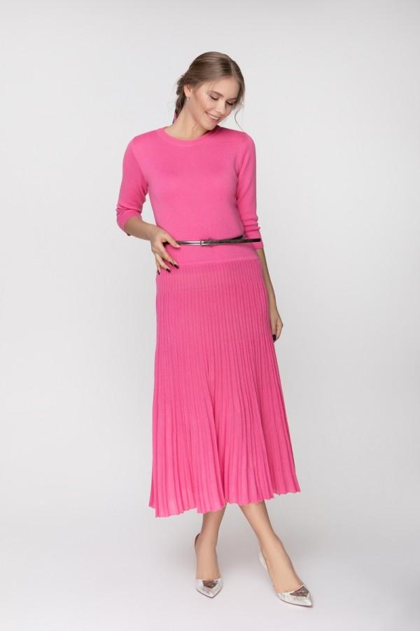 Вовняне плаття Корсика SWPW70302 колір рожевий