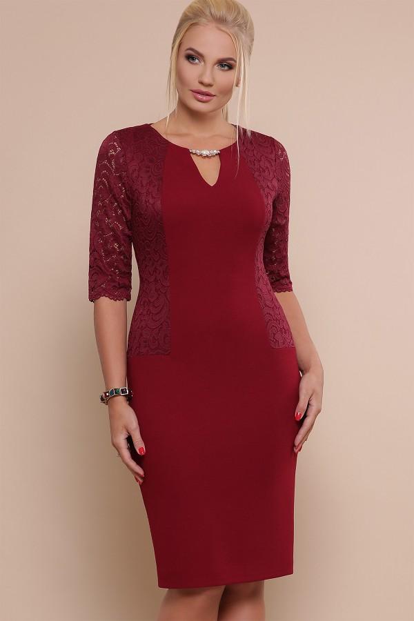 платье Адина-Б д/р GL47539 бордо