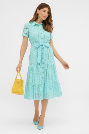 платье Уника 1 к/р GL58320 бірюза