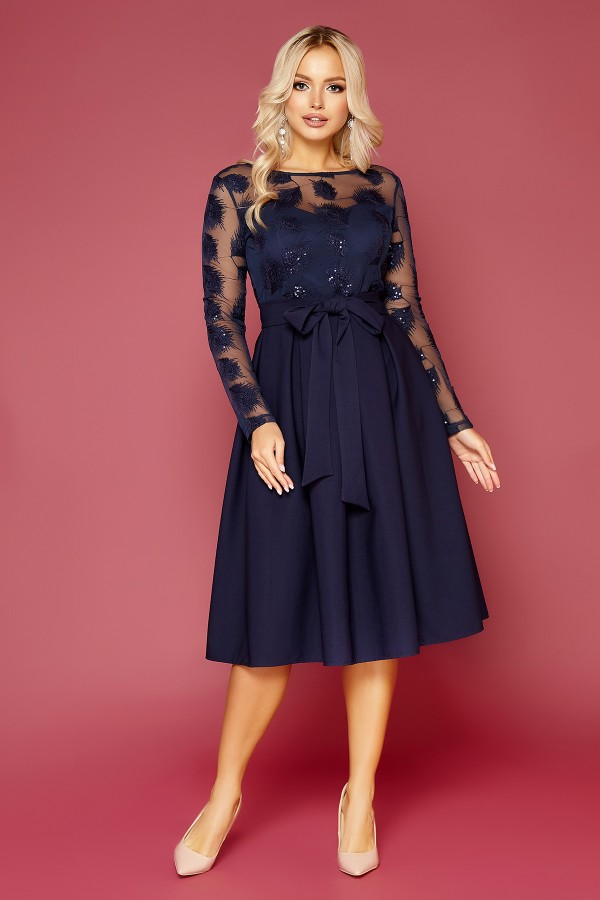 Платье Евангелина д/р GL52169 цвет синий