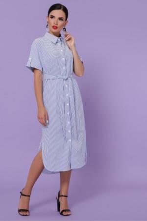 Сукня-сорочка Дар'я-3 к/р GL49855 колір синя м. смужка