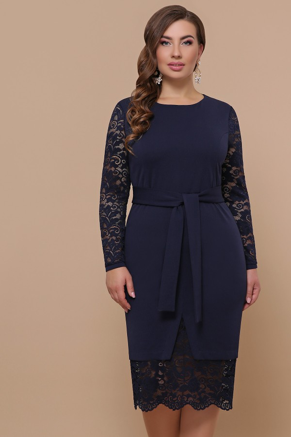 Сукня Маріка-Б д/р GL51621 колір синій