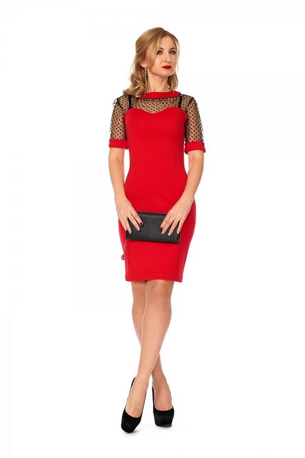 Вечірнє плаття SF111601 з сіткою