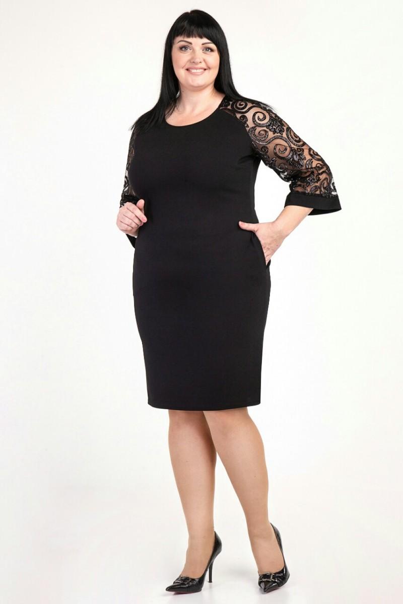 Купити недорого плаття великих розмірів VN36902 чорного кольору від ... 585e7d84b4874