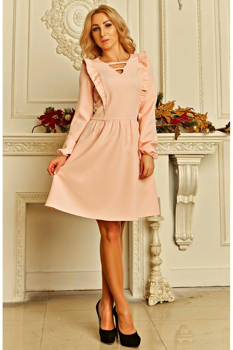Купити стильне жіноче плаття Ельнара AD724001 кольору пудри з ... 4f25491577a5a