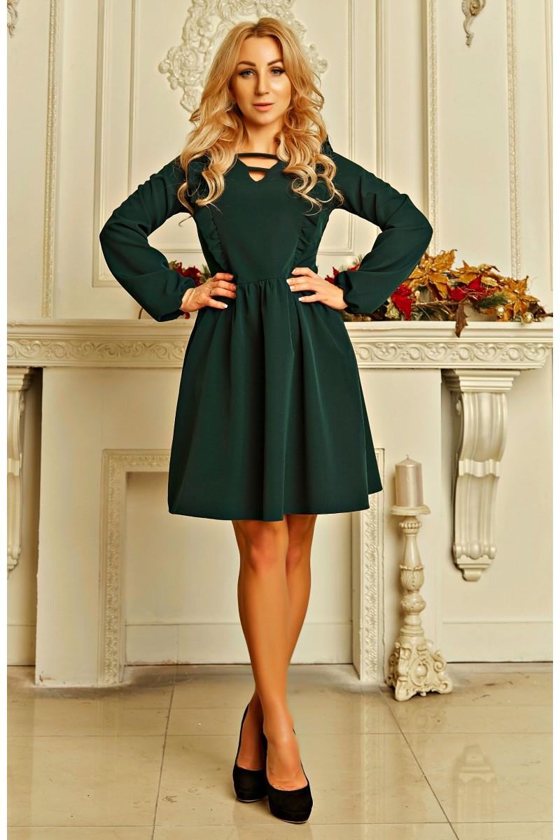 Купити стильне жіноче плаття Ельнара AD724101 зеленого кольору з ... 8bb9f848cc725