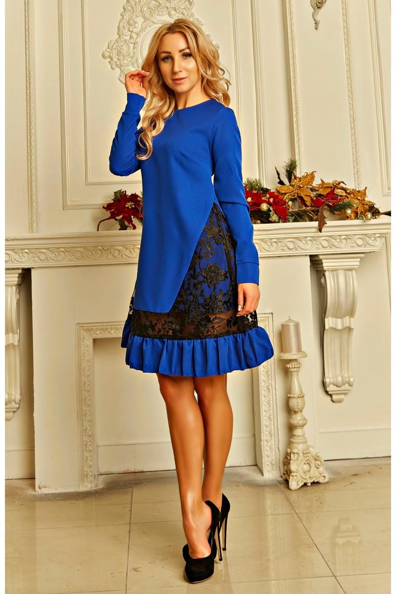 cd0a776f02094c Купити плаття - трапеція Паула AD723801 синього кольору з доставкою ...