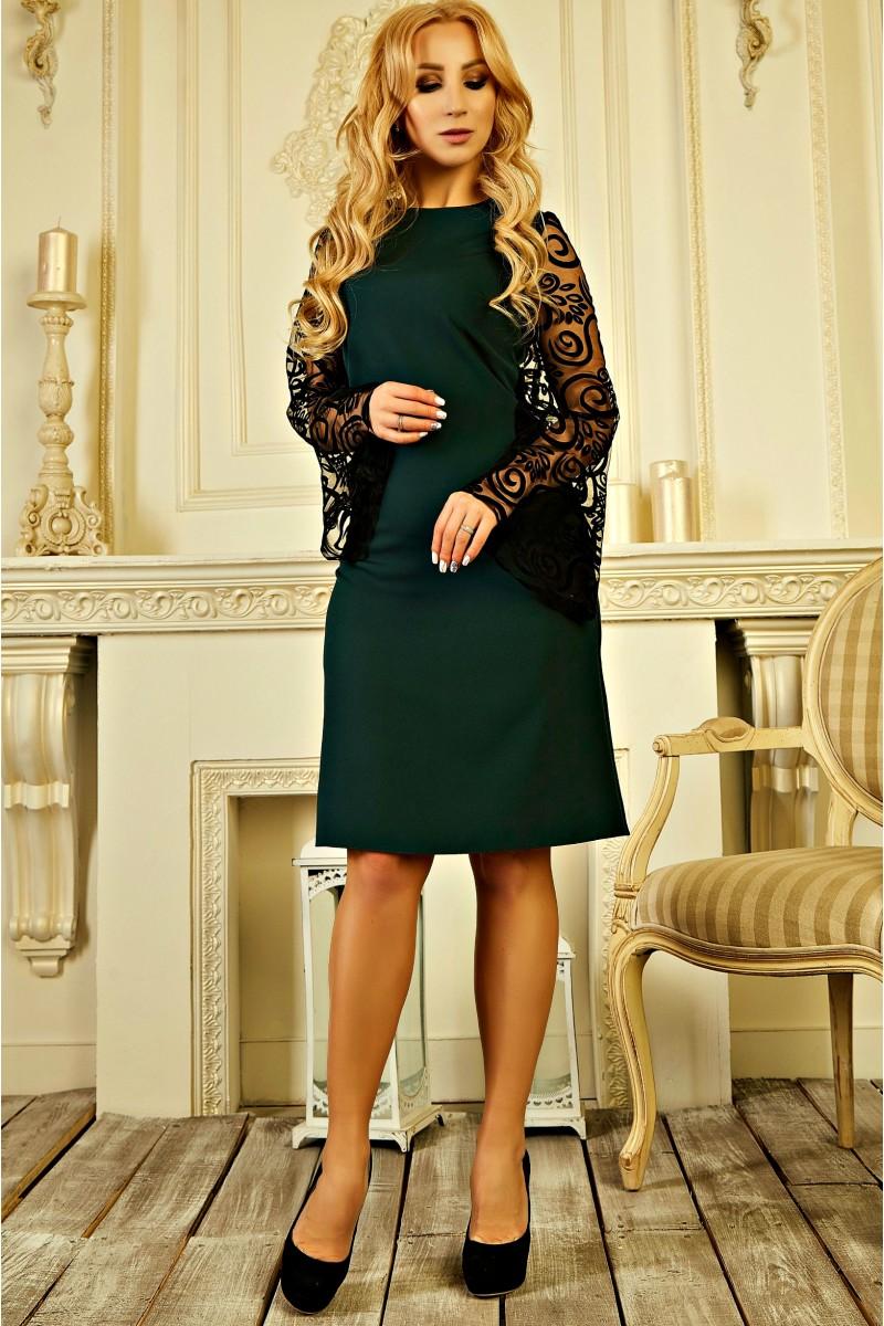 Купити нарядне плаття 2019 онлайн AD728103 зеленого кольору 550 грн ... a39dab7323a81