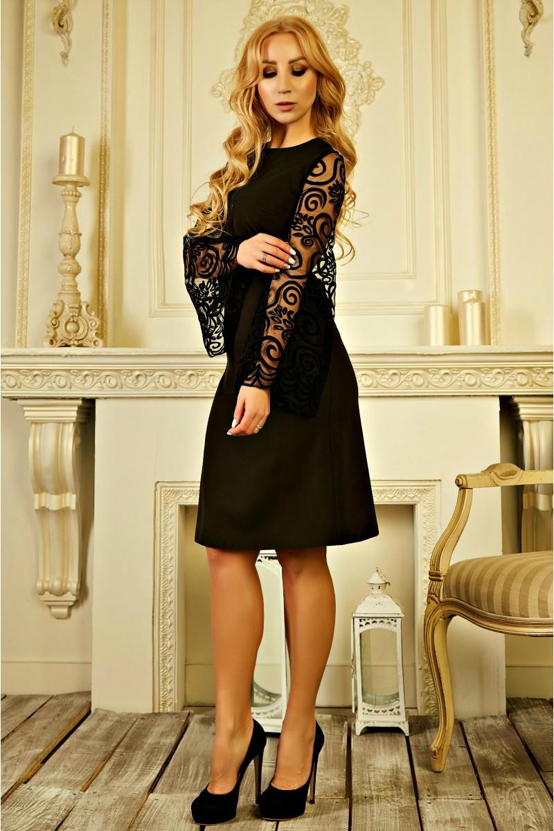 Купити нарядне плаття 2019 онлайн AD728102 чорного кольору 550 грн ... 7e1cedc1096da